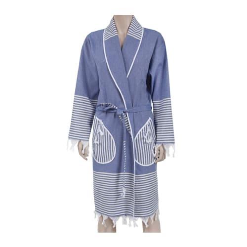 Loincloth-robe-kimono-collar-route-blue