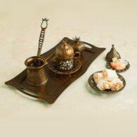 Turkish Copper Coffee Set
